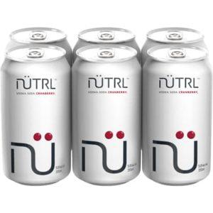 NUTRL VODKA SODA CRANBERRY 6 CANS