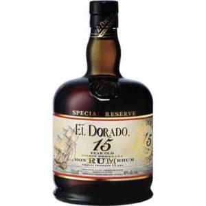 EL DORADO – 15 YEAR OLD SPECIAL RESERVE RUM 750ML