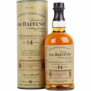 BALVENIE – 14 YEAR OLD CARIBBEAN RUM CASK 750ML