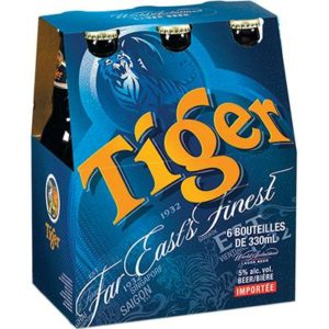 TIGER BEER 6 BTLS X 300ML